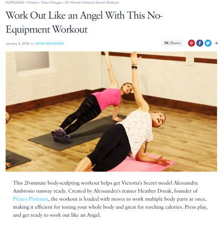 Pilates Platinum on PopSugar.com