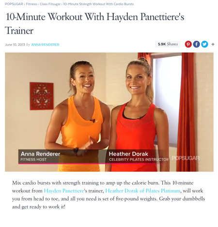 Pilates Platinum on PopSugar.com