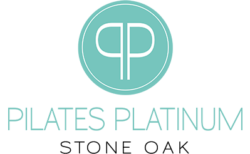 Pilates Platinum Stone Oak Logo